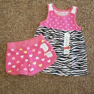 2T short and tshirt set